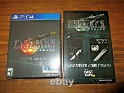 BRAND NEW Final Fantasy VII 7 Remake Deluxe Edition (Sony PS4, 2020)