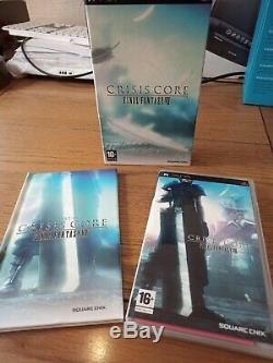 Crisis Core Final Fantasy VII 7 (Sony PSP, 2008) Collectors Edition With Book