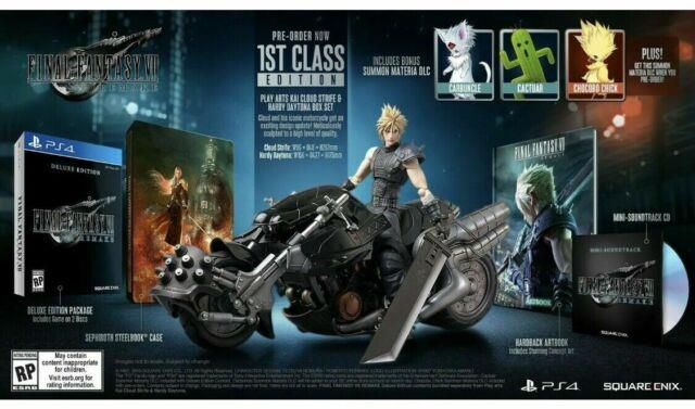 Final Fantasy Vii 7 Remake Ps4 1st Class Edition Confirmed Pre-order