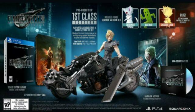 Final Fantasy Vii Remake First Class Edition Ps4 7 1st Square Enix Playstation 4