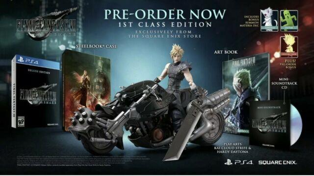 Final Fantasy Vii Remake First Class Edition Ps4 Ff7 Square Enix Playstation 4