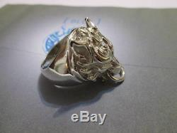Fenrir Wolf Red XIII Final Fantasy VII ring Sterling Silver 925- product artisan