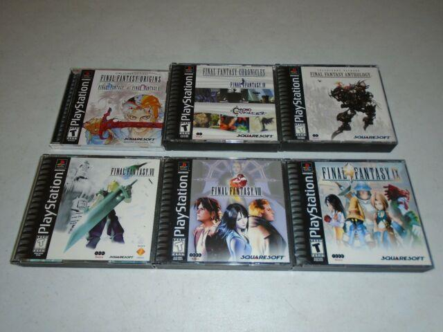 Final Fantasy 1 2 4 5 6 7 8 9 Origins Chronicles Anthology Ps1 Playstation Games