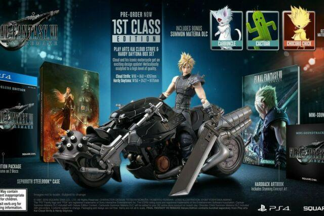 Final Fantasy 7 Vii Remake 1st First Class Edition Confirmed Pre Order Ff7