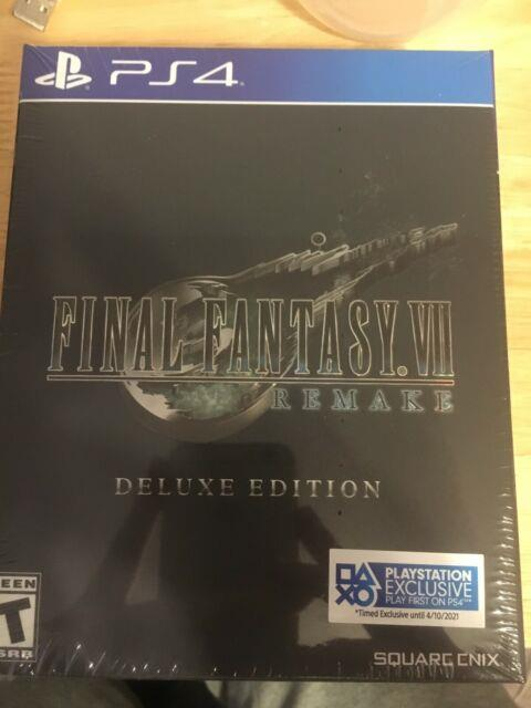 Final Fantasy 7 Vii Remake Ps4 Deluxe Edition Sold Out New Sealed With Dlc