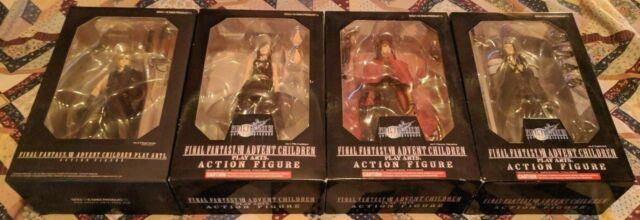 Final Fantasy Vii 7 Advent Children Action Figure Set Of 4 Rare And Unopened