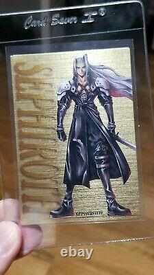 Final Fantasy VII 7 Carddass Masters Super Rare Gold Lottery Cards (Limited)