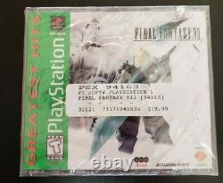 Final Fantasy VII 7 Greatest Hits (PlayStation 1, PS1 1997) FACTORY SEALED