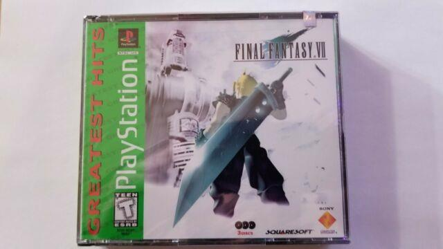 Final Fantasy Vii 7 Greatest Hits (playstation 1 Ps1) Factory Sealed Htf Y-fold