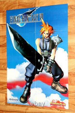 Final Fantasy VII 7 PS1 / The X-Files Very Rare Vintage Poster 80x55cm
