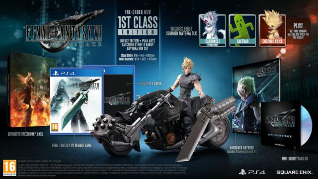 Final Fantasy Vii 7 Remake 1st Class Edition Ps4 Collector's Edition
