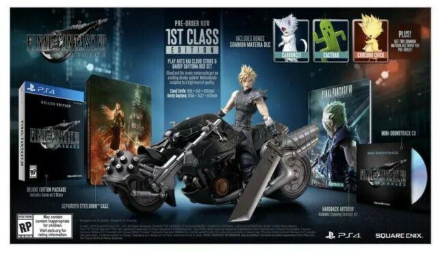 Final Fantasy Vii 7 Remake 1st Class Edition Confirmed Preorder Free Ship Ps4