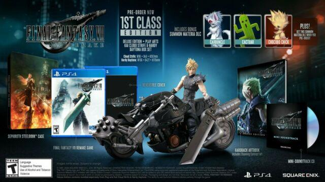 Final Fantasy Vii 7 Remake First Class Edition Complete + Lanyard New