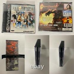 Final Fantasy VII 7 VIII 8 IX 9 PlayStation 1 PS1 Black Label NewCases Cleaned