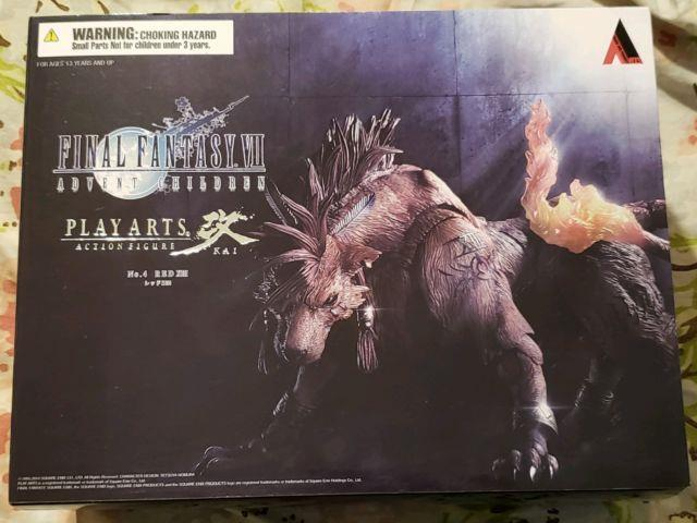 Final Fantasy Vii Advent Children Play Arts Kai Red Xiii Action Figure New