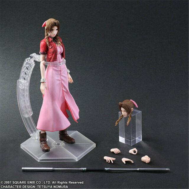 Final Fantasy Vii Aerith Zack Fair Pvc Painted Action Figure Toy 26cm In Stock