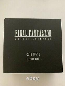 Final Fantasy VII Cloud Cloudy Wolf Advent Children Leather Coin Purse Authentic