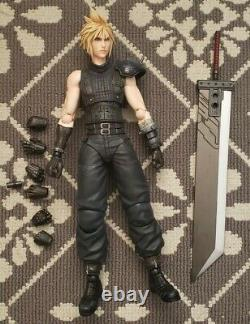Final Fantasy VII Cloud Strife Remake Play Arts Kai Action Figure used authentic