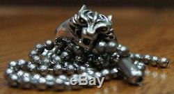 Final Fantasy VII Cloudy Wolf Necklace & Ring FF7 Wolf Cosplay (FREE Shipping!)