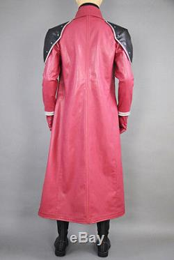 Final Fantasy VII Genesis Rhapsodos Red Cosplay Costume Synthetic Leather