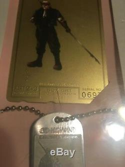 Final Fantasy VII Gold Phone Card and Dog Tag Complete Set of 12