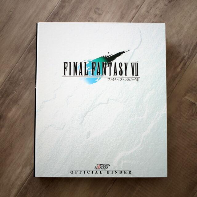 Final Fantasy Vii Official Binder Carddass Masters Withcards Trading Cards