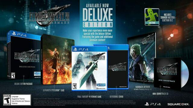 Final Fantasy Vii Remake Deluxe Edition Playstation 4 Ps4 2020 Wow