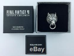 Final Fantasy VII Silver 925 Ring Cloudy Wolf official Square Enix Size 19