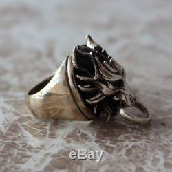 Final Fantasy VII Silver Ring Cloudy Wolf Cloud Japan SQUARE ENIX Official US5.5