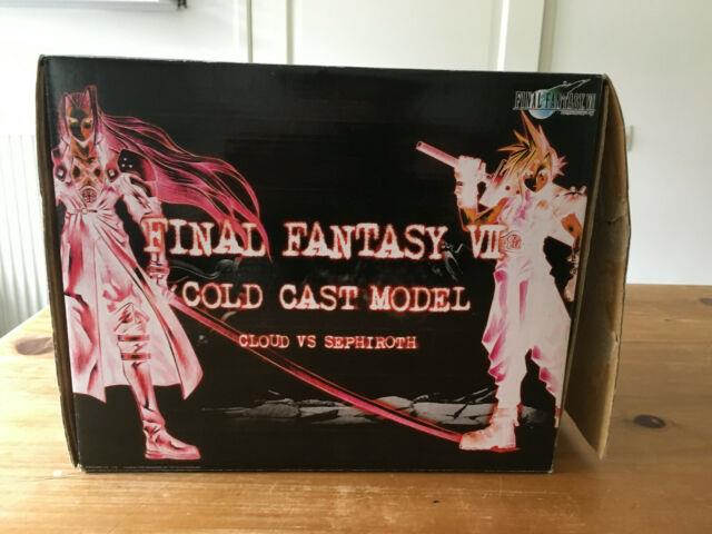 Final Fantasy Vii Cold Cast Model Cloud Vs Sephiroth Great Condition Very Rare