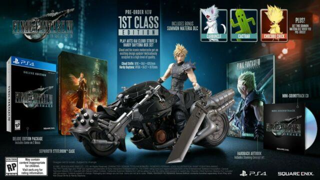 Ps4 Final Fantasy Vii 7 Remake 1st Class Edition Pre-order Collector's Cloud
