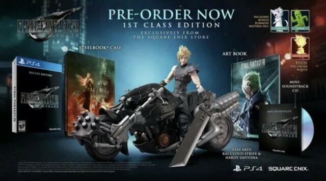 Ps4 Final Fantasy Vii 7 Remake 1st First Class Edition Confirmed Preorder