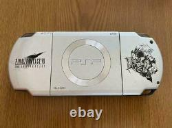 PSP 2000 Crisis Core Final Fantasy 7 Limited FF VII Console 10th Japan