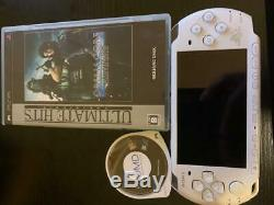 PSP-3000 Final Fantasy VII Crisis Core Limited Console set Tested White F/S