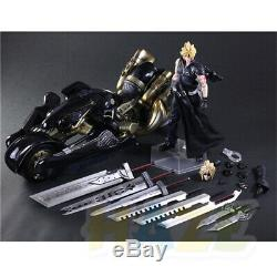 Play Arts Kai Final Fantasy VII Cloud Strife Motorcycle Action Figure New In Box