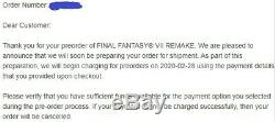 Pre-order-confirmed! Final Fantasy VII Remake First Class Edition Ps4