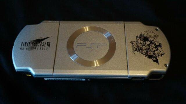 Sony Psp 2000 Final Fantasy Vii Limited Edition Rare Console, Memory Card, Games