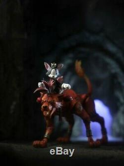 USED Final Fantasy VII Play Arts Red XIII & Cait Sith Square Enix