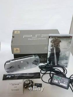 Used PSP 2000 Crisis Core Final Fantasy VII 7 Limited Silver Console 10th JAPAN