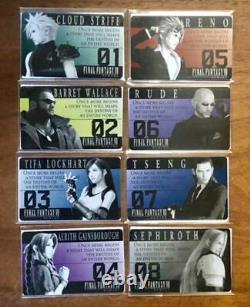 VERY RARE Final Fantasy 7 Remake Metallic Card 8 Types Complete set 280 Limited
